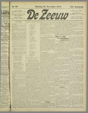 De Zeeuw. Christelijk-historisch nieuwsblad voor Zeeland 1924-11-18