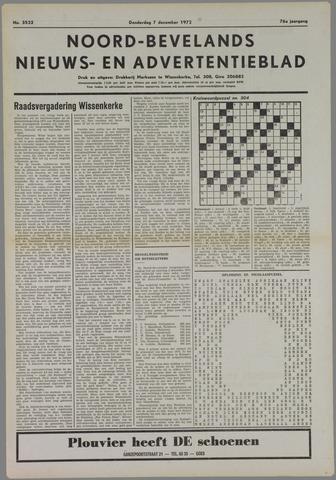Noord-Bevelands Nieuws- en advertentieblad 1972-12-07