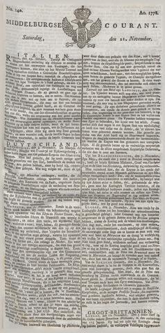 Middelburgsche Courant 1778-11-21