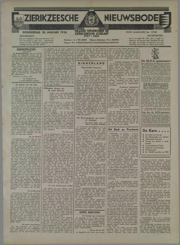 Zierikzeesche Nieuwsbode 1936-01-30