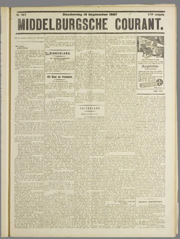Middelburgsche Courant 1927-09-15