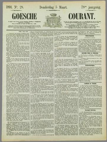 Goessche Courant 1891-03-05