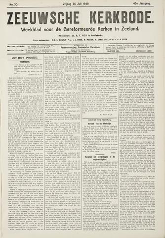 Zeeuwsche kerkbode, weekblad gewijd aan de belangen der gereformeerde kerken/ Zeeuwsch kerkblad 1929-07-26