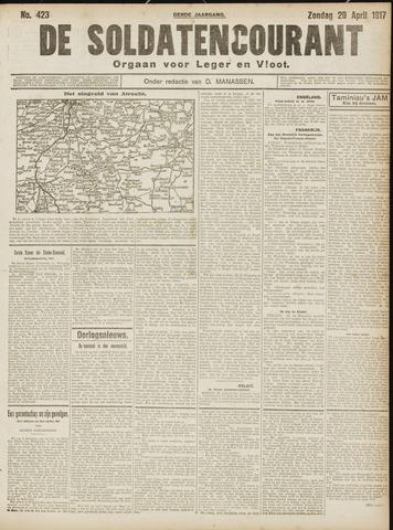 De Soldatencourant. Orgaan voor Leger en Vloot 1917-04-29