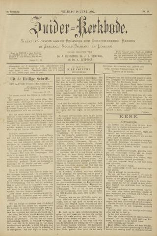 Zuider Kerkbode, Weekblad gewijd aan de belangen der gereformeerde kerken in Zeeland, Noord-Brabant en Limburg. 1897-06-18