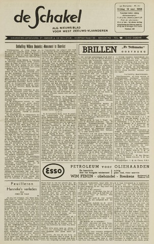 De Schakel 1958-09-12