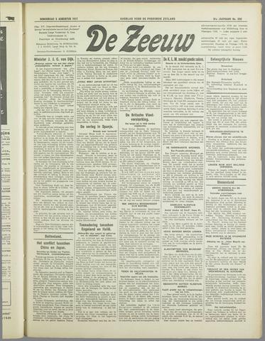 De Zeeuw. Christelijk-historisch nieuwsblad voor Zeeland 1937-08-05