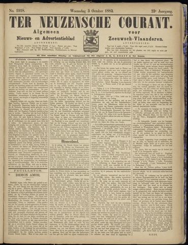 Ter Neuzensche Courant. Algemeen Nieuws- en Advertentieblad voor Zeeuwsch-Vlaanderen / Neuzensche Courant ... (idem) / (Algemeen) nieuws en advertentieblad voor Zeeuwsch-Vlaanderen 1883-10-03