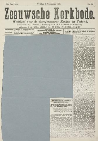 Zeeuwsche kerkbode, weekblad gewijd aan de belangen der gereformeerde kerken/ Zeeuwsch kerkblad 1920-08-06