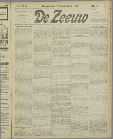 De Zeeuw. Christelijk-historisch nieuwsblad voor Zeeland 1917-09-06