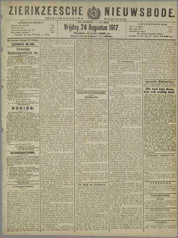 Zierikzeesche Nieuwsbode 1917-08-24