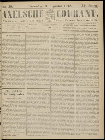 Axelsche Courant 1918-08-21