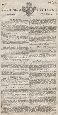 Middelburgsche Courant 1761