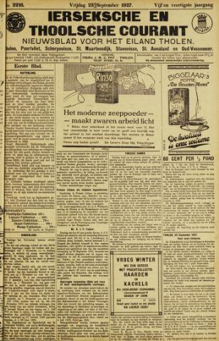 Ierseksche en Thoolsche Courant 1927-09-23