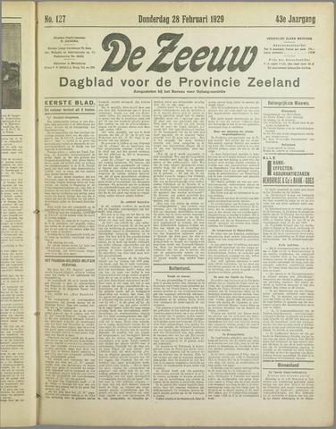 De Zeeuw. Christelijk-historisch nieuwsblad voor Zeeland 1929-02-28