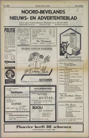 Noord-Bevelands Nieuws- en advertentieblad 1962-06-30