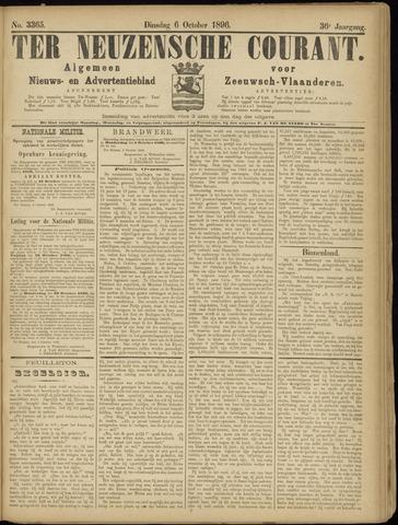 Ter Neuzensche Courant. Algemeen Nieuws- en Advertentieblad voor Zeeuwsch-Vlaanderen / Neuzensche Courant ... (idem) / (Algemeen) nieuws en advertentieblad voor Zeeuwsch-Vlaanderen 1896-10-06