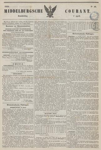 Middelburgsche Courant 1853-04-07
