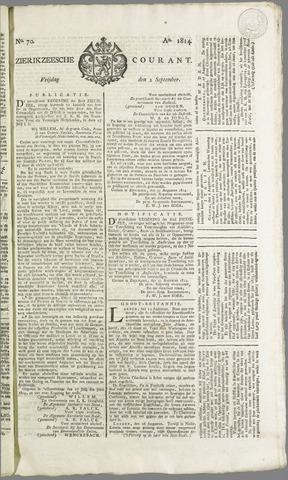 Zierikzeesche Courant 1814-09-02