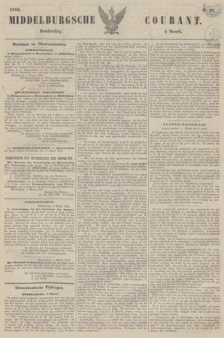 Middelburgsche Courant 1852-03-04