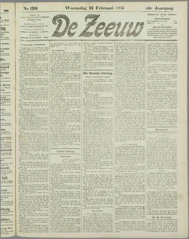 De Zeeuw. Christelijk-historisch nieuwsblad voor Zeeland 1917-02-21