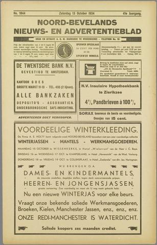 Noord-Bevelands Nieuws- en advertentieblad 1934-10-13