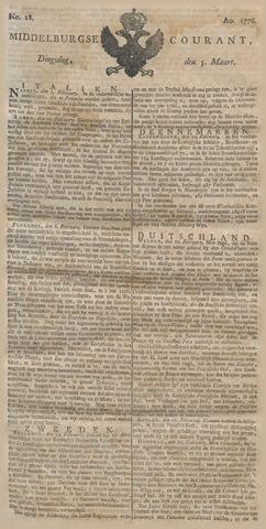Middelburgsche Courant 1776-03-05
