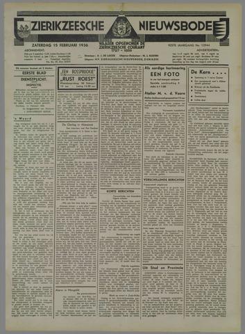 Zierikzeesche Nieuwsbode 1936-02-15