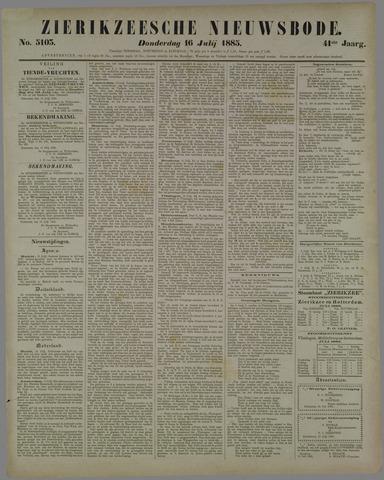Zierikzeesche Nieuwsbode 1885-07-16