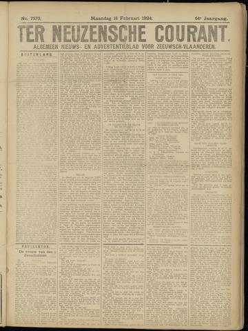 Ter Neuzensche Courant. Algemeen Nieuws- en Advertentieblad voor Zeeuwsch-Vlaanderen / Neuzensche Courant ... (idem) / (Algemeen) nieuws en advertentieblad voor Zeeuwsch-Vlaanderen 1924-02-18