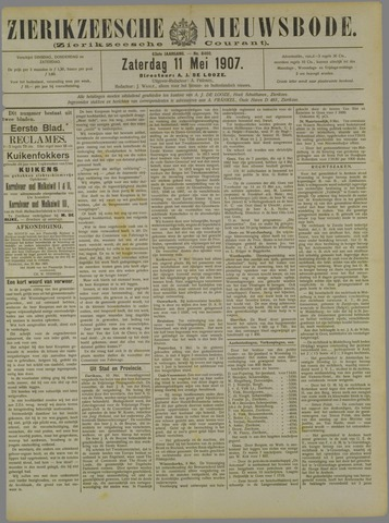Zierikzeesche Nieuwsbode 1907-05-11