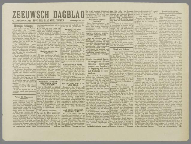Zeeuwsch Dagblad 1945-10-02