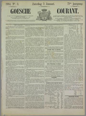 Goessche Courant 1884-01-05