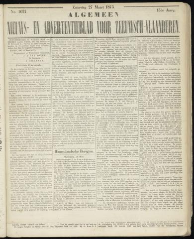 Ter Neuzensche Courant. Algemeen Nieuws- en Advertentieblad voor Zeeuwsch-Vlaanderen / Neuzensche Courant ... (idem) / (Algemeen) nieuws en advertentieblad voor Zeeuwsch-Vlaanderen 1875-03-27