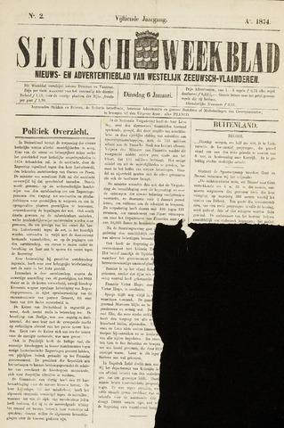 Sluisch Weekblad. Nieuws- en advertentieblad voor Westelijk Zeeuwsch-Vlaanderen 1874-01-06