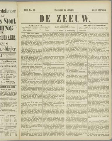 De Zeeuw. Christelijk-historisch nieuwsblad voor Zeeland 1890-01-23