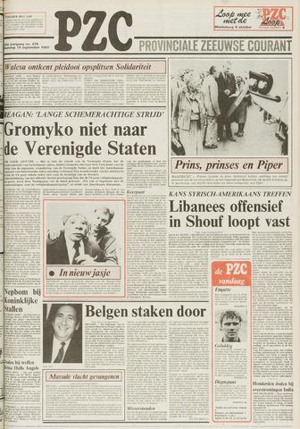 Provinciale Zeeuwse Courant 1983-09-19