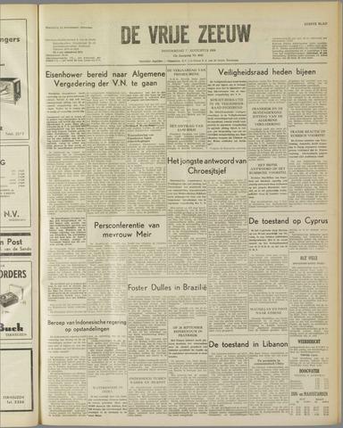 de Vrije Zeeuw 1958-08-07