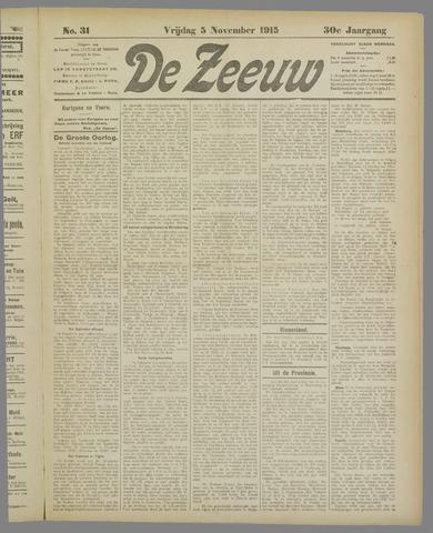 De Zeeuw. Christelijk-historisch nieuwsblad voor Zeeland 1915-11-05