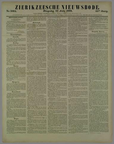 Zierikzeesche Nieuwsbode 1888-07-10