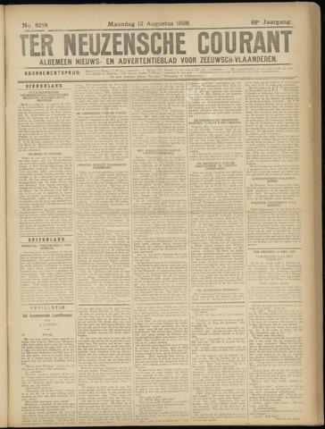 Ter Neuzensche Courant. Algemeen Nieuws- en Advertentieblad voor Zeeuwsch-Vlaanderen / Neuzensche Courant ... (idem) / (Algemeen) nieuws en advertentieblad voor Zeeuwsch-Vlaanderen 1928-08-13