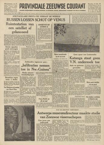 Provinciale Zeeuwse Courant 1961-02-13