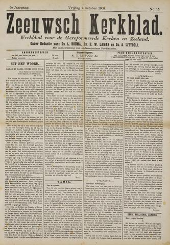 Zeeuwsche kerkbode, weekblad gewijd aan de belangen der gereformeerde kerken/ Zeeuwsch kerkblad 1908-10-02