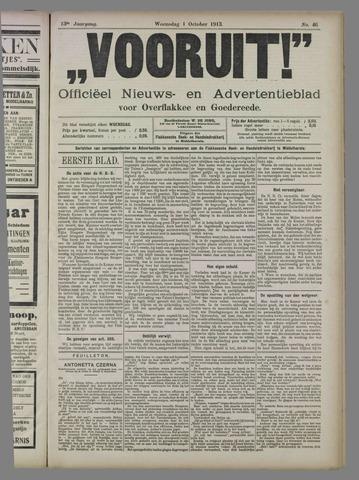 """""""Vooruit!""""Officieel Nieuws- en Advertentieblad voor Overflakkee en Goedereede 1913-10-01"""