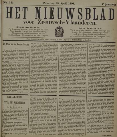 Nieuwsblad voor Zeeuwsch-Vlaanderen 1898-04-23