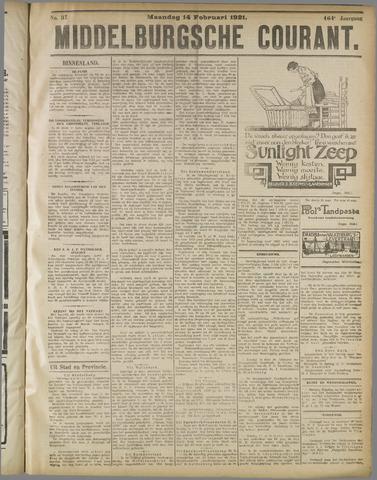 Middelburgsche Courant 1921-02-14