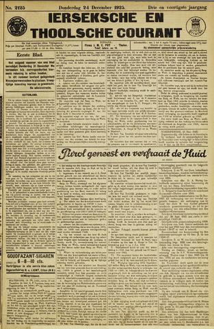 Ierseksche en Thoolsche Courant 1925-12-24