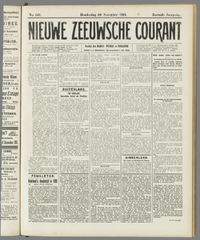 Nieuwe Zeeuwsche Courant 1911-11-30
