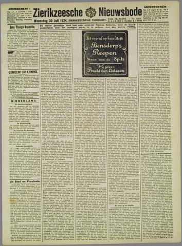 Zierikzeesche Nieuwsbode 1924-07-30