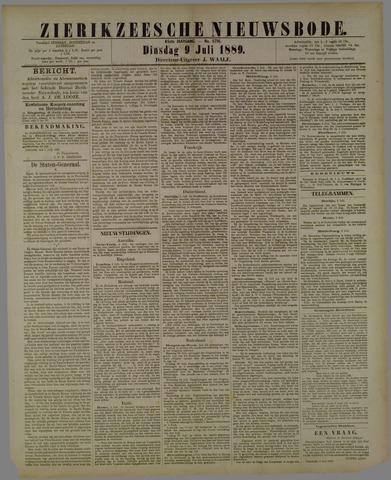 Zierikzeesche Nieuwsbode 1889-07-09